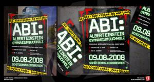 Abi-Party CSI-Flyer