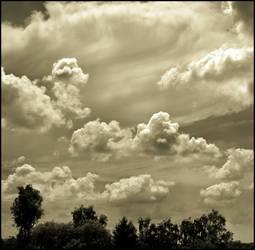 White clouds by LiveInPix