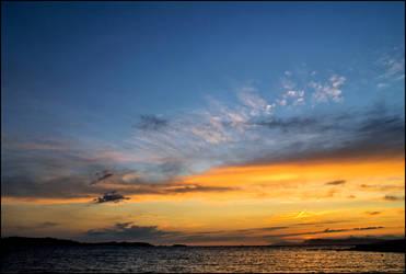 Mediterranean  sunset by LiveInPix