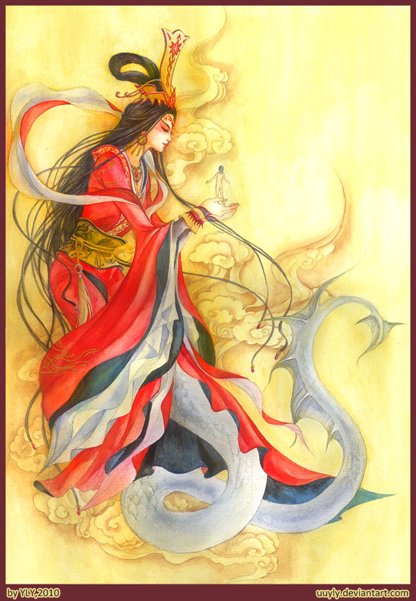 the three versions of nu wa a goddess in chinese mythology