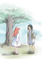 young Snape and Lily by uuyly