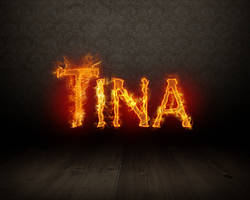 Tina in fire by Limpich
