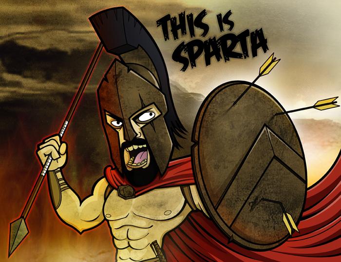 Image result for sparta cartoon