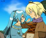 Little Sona and Ezreal x3