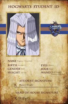 Hogwarts Student ID - Pegasus J Crawford