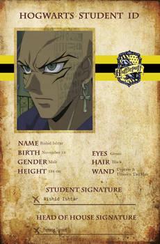 Hogwarts Student ID - Rishid Ishtar