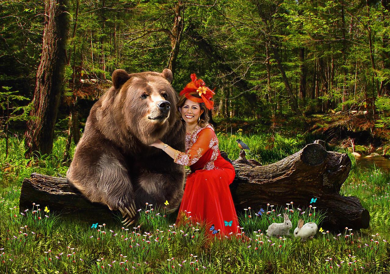 Happy Mother Bear