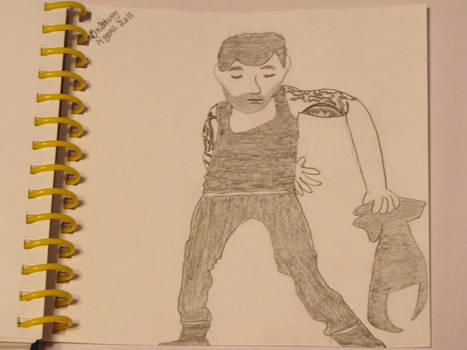 Ricky Martin cd cover drawing