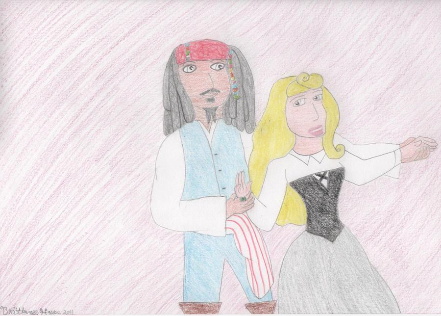 Jack and Aurora dancing
