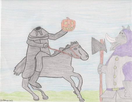 Headless Horseman with Rhino
