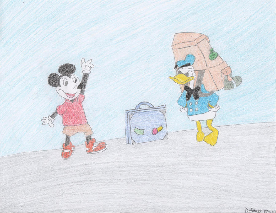 Mickey Mouse and Donald Duck by DisneyPrincessNeeNee