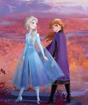Anna And Elsa Frozen 2 Art