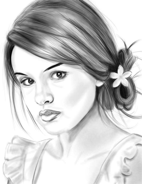 how to draw selena gomez cartoon