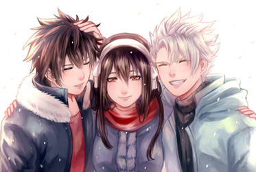 Fairy Tail - Ice Trio by Hokorippen