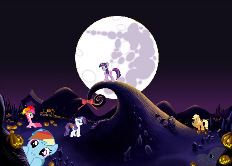 Ponies in Halloween Town? by TomA62975 on DeviantArt