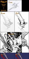 Spidey Step by Step Process by davidyardin