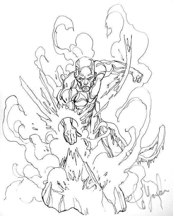 Iceman Con Sketch by davidyardin