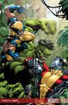 X-Men vs Hulk 1 Cover Colour