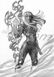 Danielle Baptiste Witchblade by davidyardin