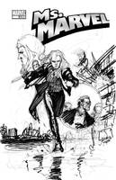 Ms Marvel 33 cover layout by davidyardin