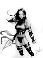 Psylocke Con Sketch by davidyardin