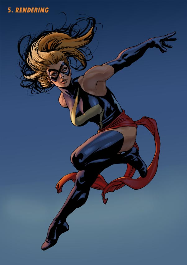Ms Marvel Step 5 by davidyardin