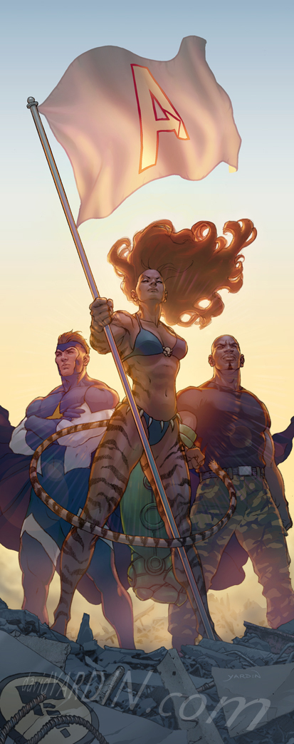 Avengers The Initiative 35 cov by davidyardin