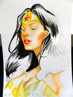 Wonder Woman Watercolour Step 6 by davidyardin
