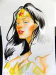 Wonder Woman Watercolour Step 6