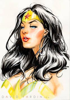 Wonder Woman Watercolour Painting