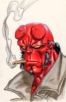 Hellboy by davidyardin