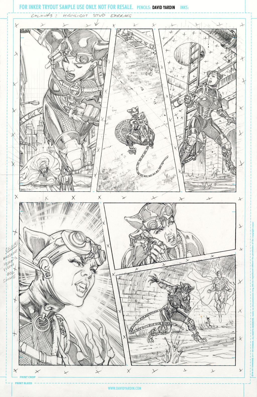 Hi-Res Pencils for inkers Injustice 17 page 6 by davidyardin