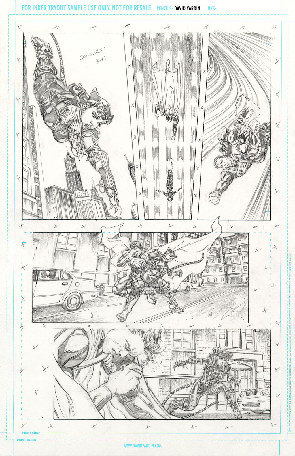 Hi-Res Pencils for inkers Injustice 17 page 5 by davidyardin