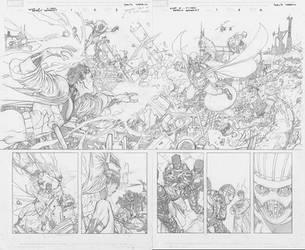 X-Men Deadly Genesis Spread by davidyardin