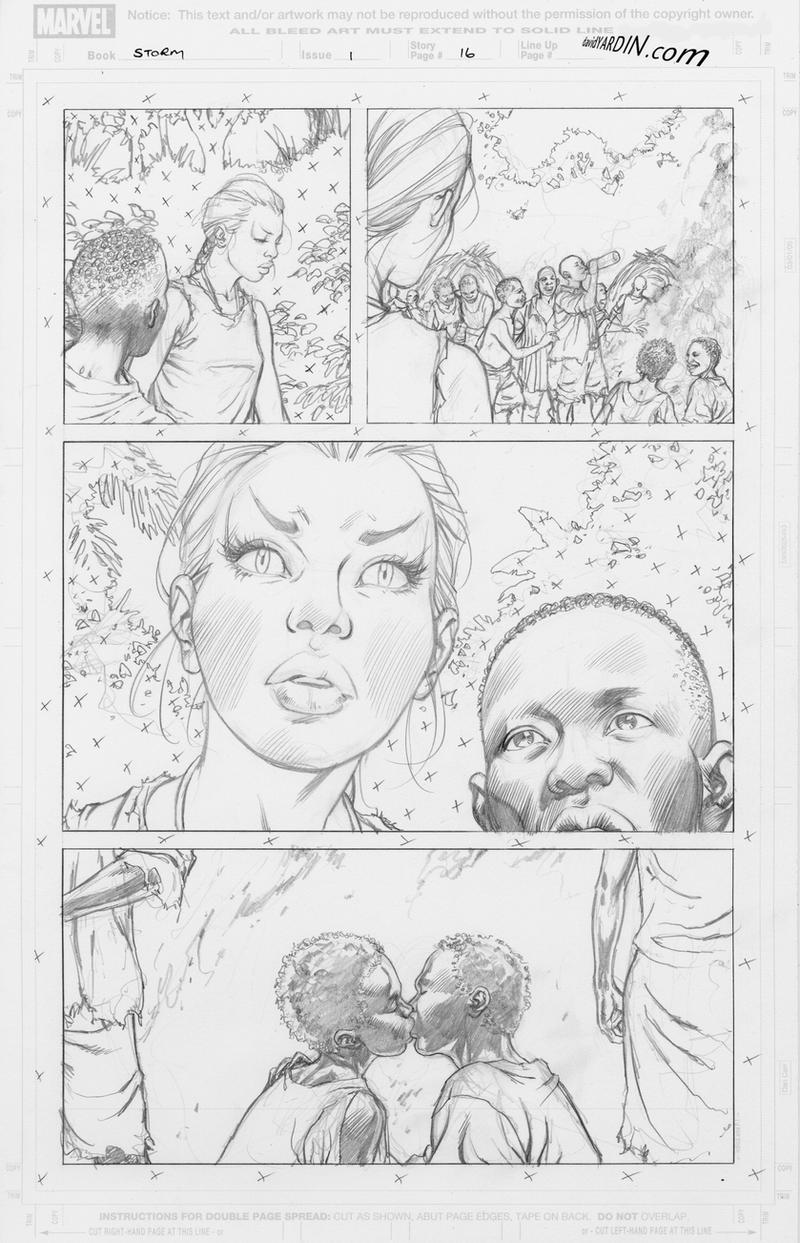 Storm 1 p16 pencils for inking by davidyardin