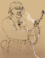 German Soldier by roback