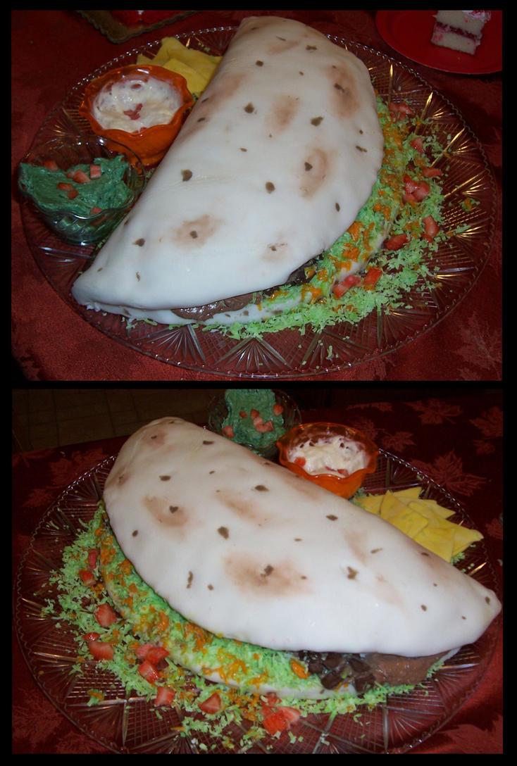Soft Taco Cake by Ti-7-4Raven