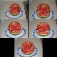 Watermelon Rose by Ti-7-4Raven