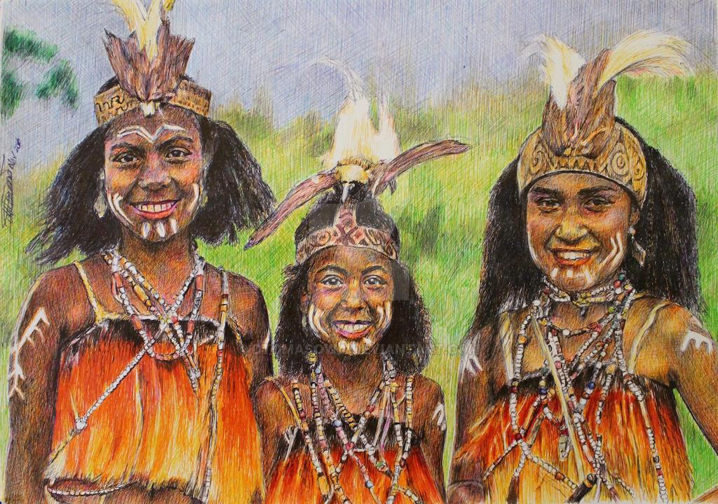Sentani Girls - Papua by dtomasowa