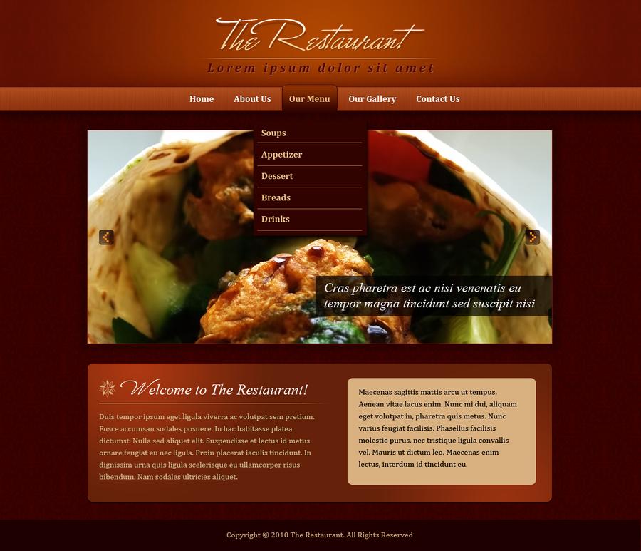 Restaurant website by vespercreative on deviantart for Cuisine website