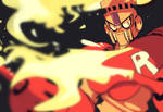 Fire Man doodle