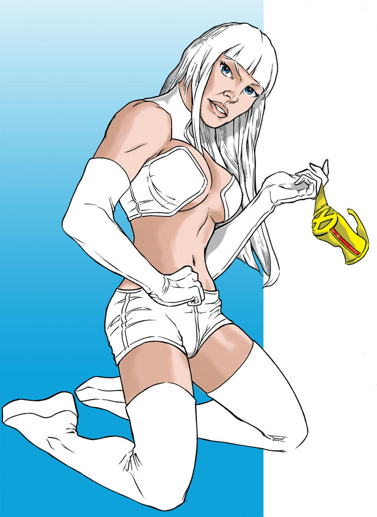 Emma Frost at Spitballin' by G-Spot1