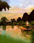 Guilin, China Painting