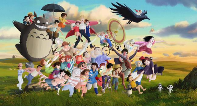 Studio Ghibli Characters by Ficklestix