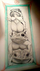 Totem toads by FiveFatDucks