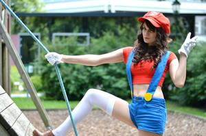 Super Mario Girl! by BlueBlackDiamond