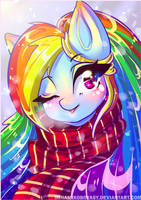 Christmas Rainbow Dash by MinamiKoboyasy