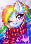 Christmas Rainbow Dash