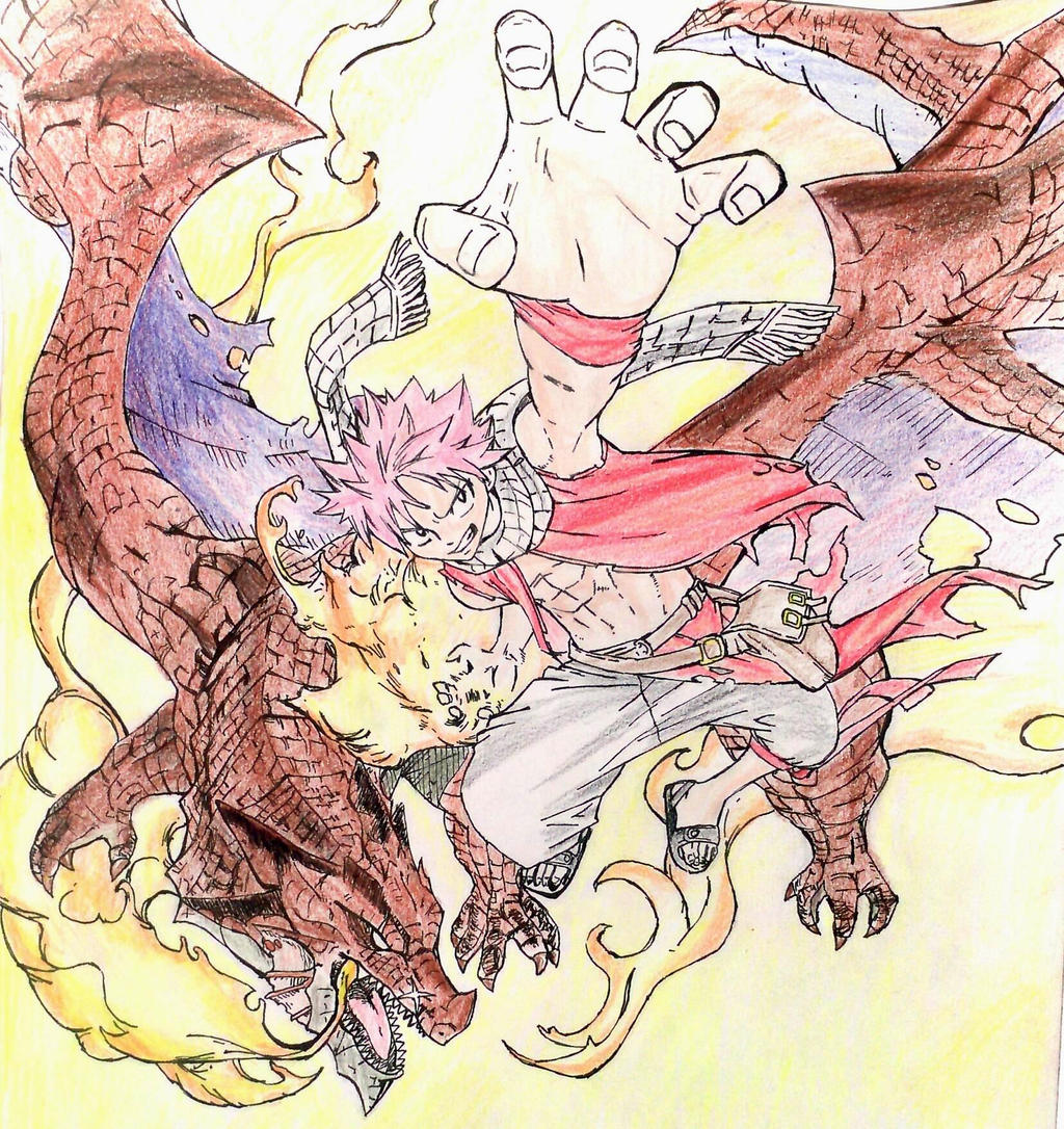 Natsu and Igneel by Turskeluth