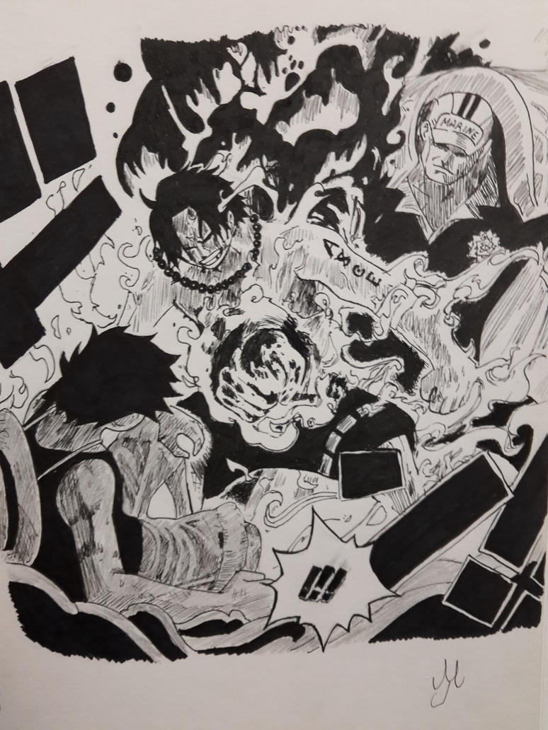 One Piece - Ace's Death by Turskeluth on DeviantArt
